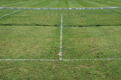 Lawn tennis. A lawn or grass tennis court Royalty Free Stock Image