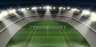 Lawn Tennis Court At Night Royalty Free Stock Images