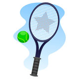 Lawn Tennis. Vector Illustration of Lawn Tennis Royalty Free Stock Images