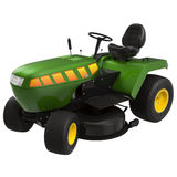 Lawn tractor isolated on white 3D Illustration Royalty Free Stock Photo