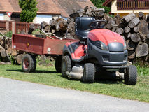 Lawn tractor Royalty Free Stock Images