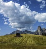 Mountain hut, Dolomiti - Italy Royalty Free Stock Images