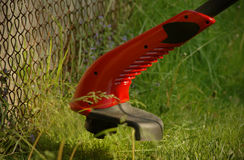 Lawn trimmer closeup Royalty Free Stock Photography