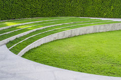 The lawn. Was designed to be a step for sitting stock photos