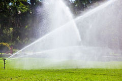 Lawn watering Royalty Free Stock Photography