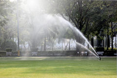 Lawn watering in the Park. Stock Photography