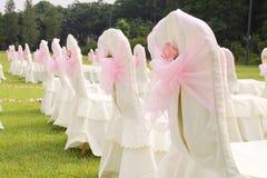 Lawn wedding site Stock Photos