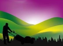 lawngräsklippningsmaskin Arkivfoto