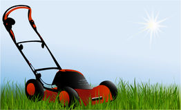 Lawnmover. Nature background wih lawnmover Stock Photos