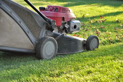 Lawnmower at autumn Stock Images