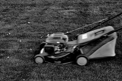 Lawnmower at autumn Royalty Free Stock Images