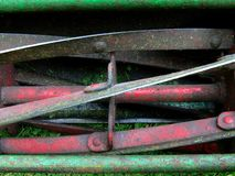 Lawnmower Blades. Close up of old cylinder lawnmower blades Stock Images