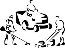 lawn mower logo black and white. lawnmower stock images lawn mower logo black and white