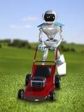 Lawnmower do robô da ilustração 3D Fotos de Stock