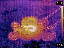 Lawnmower Failure Thermogram Royalty Free Stock Photography