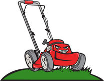Lawnmower Front Isolated Cartoon Royalty Free Stock Photography