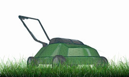 Lawnmower on green grass Stock Photos