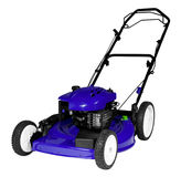 Lawnmower Isolated. An isolated lawnmower on a white background Stock Image