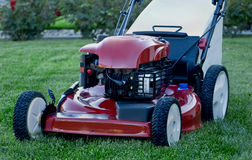 Lawnmower on Lawn Royalty Free Stock Photos
