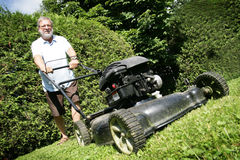 Lawnmower man Stock Photography