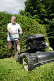 Lawnmower man Royalty Free Stock Photos