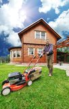 The Lawnmower Man Stock Photo