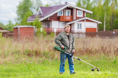 Lawnmower man Royalty Free Stock Photography