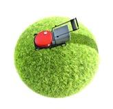 Lawnmower na grama Imagens de Stock Royalty Free