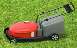 Lawnmower na grama Fotografia de Stock Royalty Free