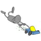 Lawnmower robótico ilustração stock