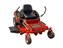 Lawnmower vermelho Fotos de Stock Royalty Free