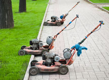 lawnmowers starzy fotografia stock