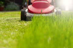 Lawnmowing Photographie stock libre de droits