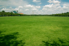 Free Lawns In The Area Sanam Luang. Stock Image - 27051781