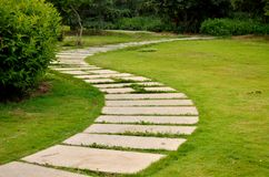 Lawns and paths Stock Photo