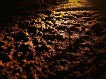 Lawowy tunel w Narusawa Lodowej jamie obrazy stock