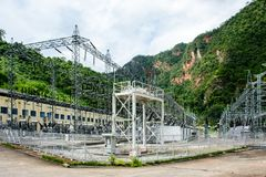 Lawpita水力发电驻地,克耶邦,缅甸 库存图片