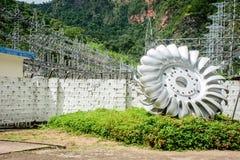 Lawpita水力发电驻地,克耶邦,缅甸 库存照片