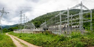 Lawpita-Wasserkraft-Station, Kayah-Zustand, Myanmar Lizenzfreie Stockfotografie