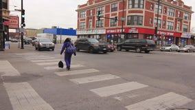 Lawrance i Pulaski ulicy w Chicago zbiory wideo
