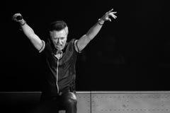 Lawrence Gowan de STYX que executa no concerto de Califórnia Foto de Stock Royalty Free