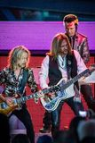 Lawrence Gowan, Ricky Phillips & Tommy Shaw of STYX performing at California Concert Stock Image