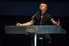 Lawrence Gowan of STYX performing at California Concert stock images