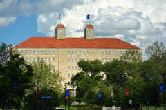 LAWRENCE, KS, U.S.A. - 30 maggio 2017: L'università di Kansas Frase fotografie stock