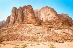 Lawrence Spring, Wadi Rum,  Jordan. Stock Photography