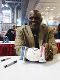 Lawrence Taylor, New York Giants linebacker and Hall of Famer,  during autographs session in New York Stock Photos