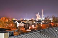 Lawrenceburg在晚上 免版税库存图片