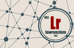 Lawrencium chemical element. Royalty Free Stock Image
