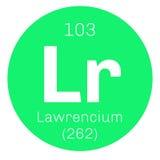 Lawrencium chemical element Stock Images