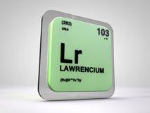 Lawrencium - Lr - chemical element periodic table Stock Photo